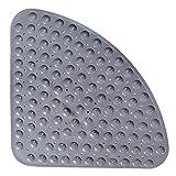 Sector Alfombrilla de goma para ducha de esquina, Alfombrilla de baño antideslizante en cuadrante Alfombrilla antibacteriana con ventosas para ducha o bañera, Antideslizante para bañera, 54x54CM