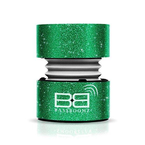 BassBuds Tragbarer Bluetooth-Lautsprecher–Glitzer Grün