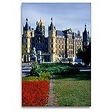 Premium Textil-Leinwand 80 x 120 cm Hoch-Format Schloss