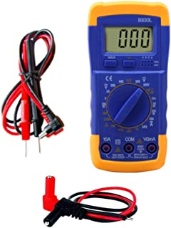 Digital Multi-Meter with Banana Plug to Pins Adapter Cord for Digital Volt Meter Included