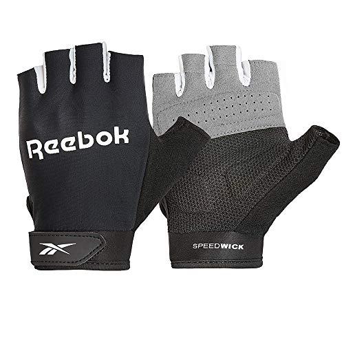 Reebok Speedwick, Guanti Fitness Unisex-Adult, Nero, L-20-21.5 cm (Intorno al Palmo)