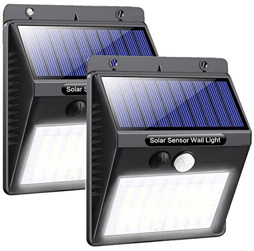 Solar Lights Outdoor, Solar Motion Sensor Lights Waterproof Super Bright Wireless Solar Security Lights for Garden Fence Yard Patio Pathway Driveway (2 Pack)