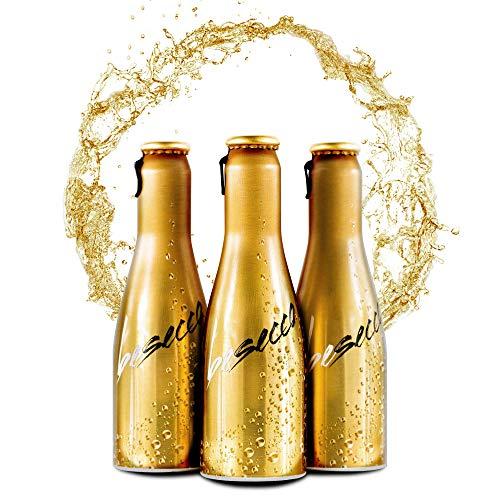 JUST BE Secco | Piccolo frizzante l Prickelnder Premium Weiss-Wein (24 x 0,2 L)