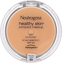Neutrogena Healthy Skin Compact Makeup, Natural Beige [60] 0.35 oz (Pack of 3)