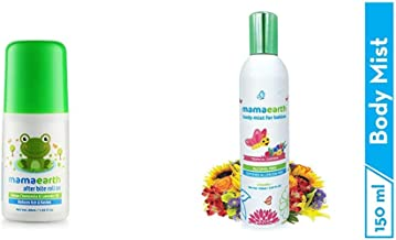 Mamaearth After Bite Roll On for Rashes & Mosquito Bites with Lavander & Witchhazel, 40ml & Mamaearth Perfume Body Mist for Babies and Kids with Allergen Free Tripical Garden Fragrance for All