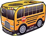 Sunny Days Entertainment Pop Up School Bus – Indoor Playhouse for Kids | Yellow Vehicle Toy Gift for Boys and Girls