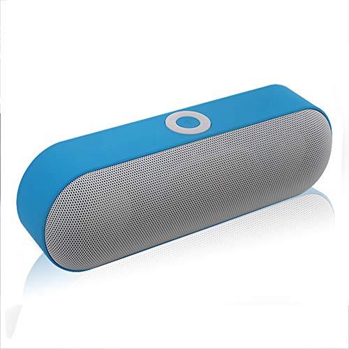 Xyxiaolun Bluetooth-Gerät, Tragbare Lautsprecher Drahtlose Bluetooth-Karte für den Außenbereich Multifunktionscomputer Handy-Subwoofer Mini-Drahtlos-Bluetooth-Audio,Blue