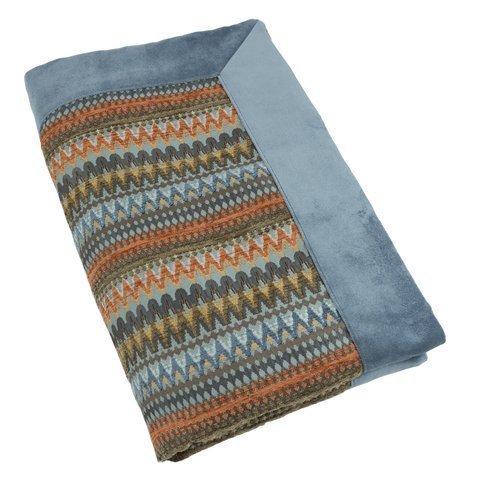 McAlister Textiles Curitiba | Bunt gemusterter Überwurf 200cm x 254cm in Orange & Blaugrün | farbenfrohe Decke für Sofa, Bett, Sessel, Picknick - Ethno-Look