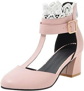 COOLCEPT Women Fashion Block Heels Summer Shoes Zipper
