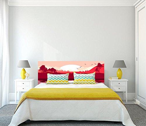 Cabecero Cama PVC Impresión Digital Japones Multicolor 100 x 100 cm   Disponible en Varias Medidas   Cabecero Ligero, Elegante, Resistente y Económico