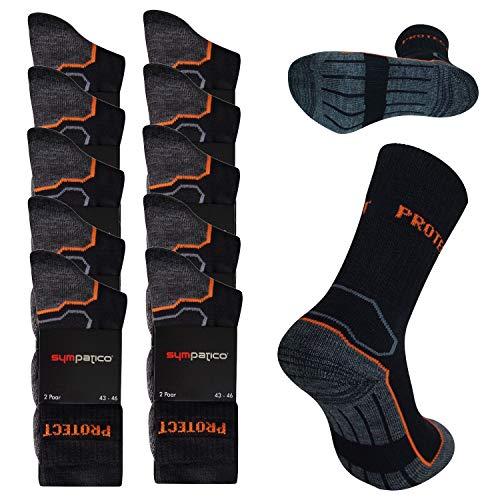 Sympatico 10 Paar Arbeitssocken Herren PROTECT, Socken mit Lüftungszonen Größe 39/42