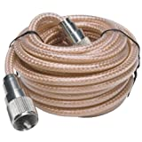 RoadPro RP-8X12CL Clear 12' CB Antenna with Mini-8 Coax Cable