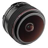 Opteka 6.5mm f/2 HD MC Manual Focus Wide Angle Circular Fisheye Lens for Sony E-Mount A6600, A6500, A6400, A6300, A6100, A6000, A5100, A5000, A3000 and NEX Mirrorless Digital Cameras