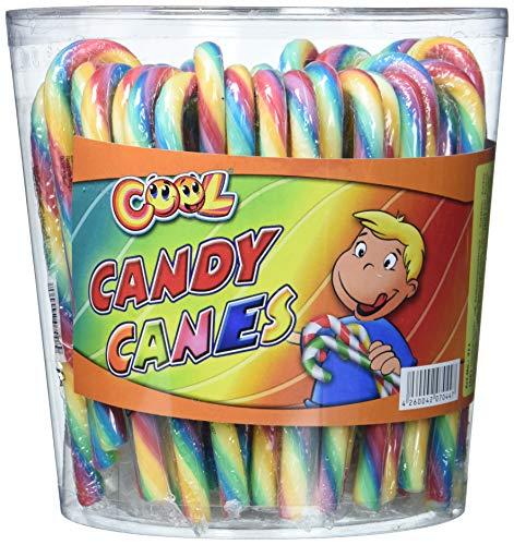 Cool Candy Canes Zuckerstangen in Regenbogen Farben 50 Stück in Dose (50 x 14 g)