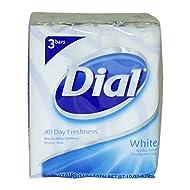 Dial Antibacterial Deodorant Soap 4oz Bars, White, 3 ea