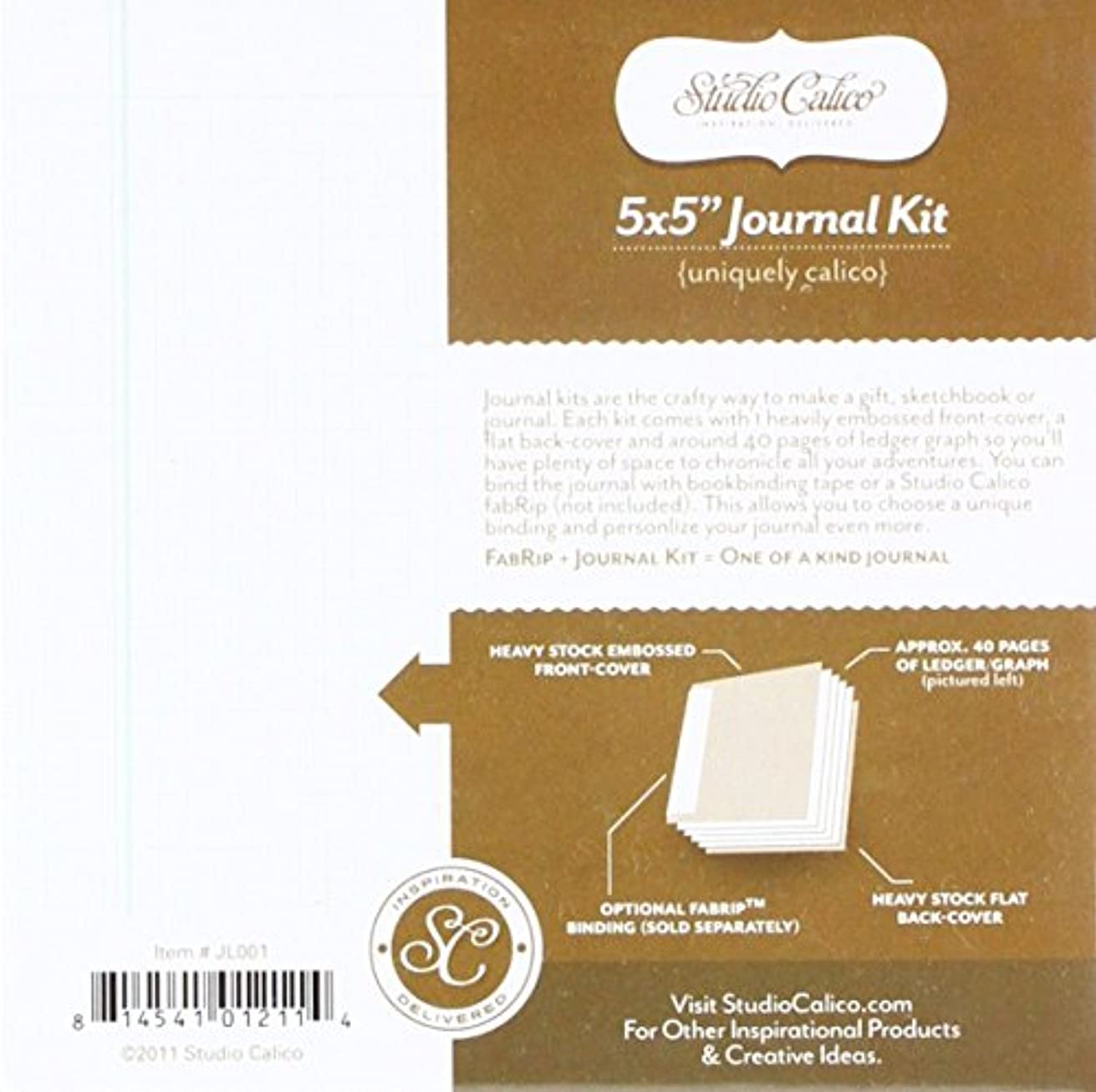 Studio Calico American Crafts Classic 5 x 5 Journal Kit, Alphabet