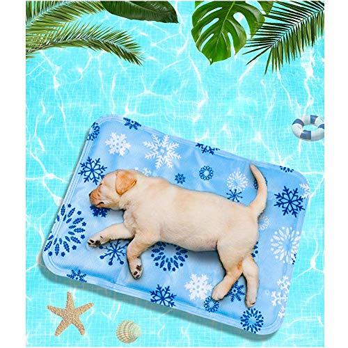 Kindax Tappetino Refrigerante per Cani 60 * 50cm, Tappeto per Animali in Gel Autorinfrescante Non tossico, Pad di Raffreddamento per Cani, Gatti e Animali Domestici