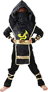 BaronHong Kids Ninja Dragon Kung Fu Costumes Child Ninja Warrior Outfit Cosplay