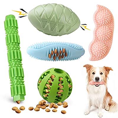 Amazon - Save 50%: Etrustor Dog Chew Toy, 5-Pack Dog Toys(Not for Aggressive Chewers) Inter…