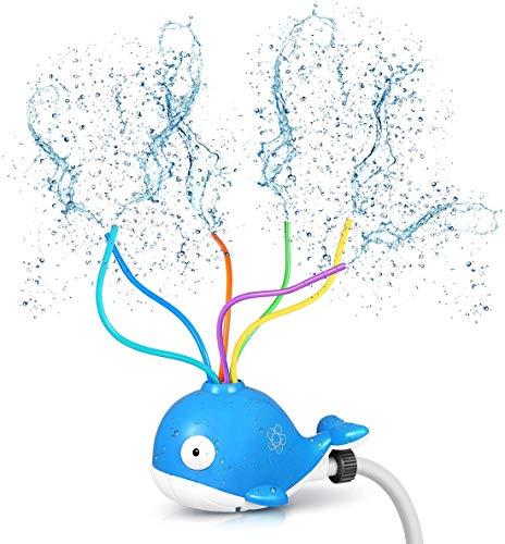 Gimsan Sprinkler Kinder, Wasserspielzeug Kinder Wassersprinkler Spielzeug im Wal Design für Outdoor Familie Aktivitäten, Sprühen Sie Wasserspielzeug für Kleinkinder Jungen Mädchen Haustiere