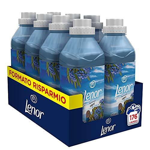 Lenor Ammorbidente Lavatrice Concentrato,176 Lavaggi (8 x 22), Atmosfere D'Italia Capri, Azione Ammorbidente, Maxi Formato, Freschezza Duratura, Per Tutti i Capi
