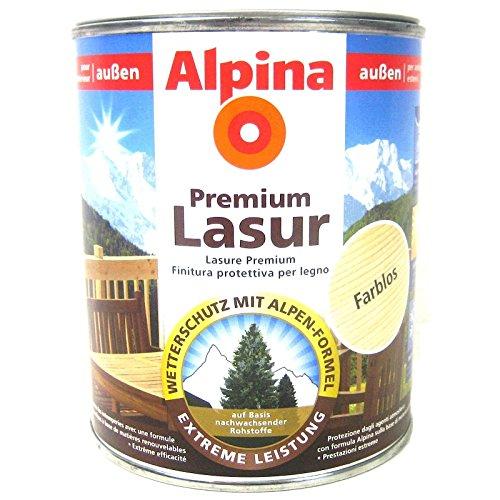 ALPINA Premium Lasur, 750 ml, Holz Dickschichtlasur außen, Teak