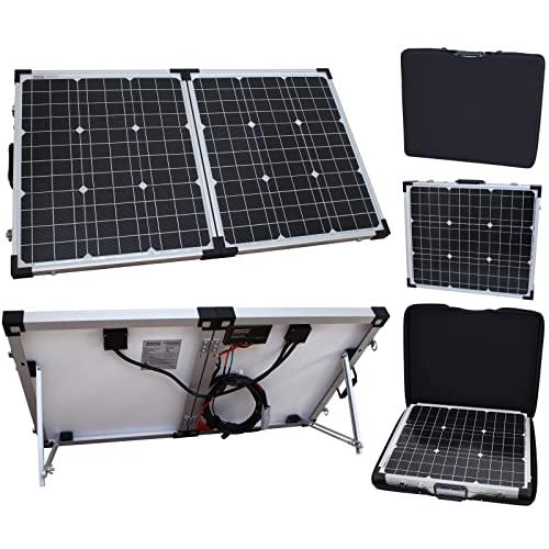 80W 12V Photonic Universe portable folding solar charging kit with...