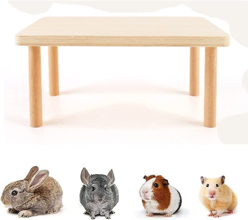 JUILE Charlotte Mall YUAN Hamster Play Wooden 25% OFF Platform Wood Natural Desk Dw for