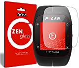nandu I ZenGlass Protector de Vidrio Flexible Compatible con Polar M400 HR I Protector de Pantalla 9H