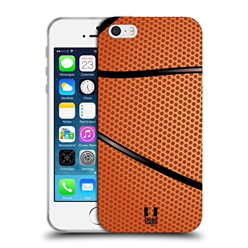 Head Hülle Designs Basketball Ball Kollektion Soft Gel Handyhülle Hülle Huelle & Passende Designer Hintergr&bilder kompatibel mit Apple iPhone 5 / iPhone 5s / iPhone SE 2016
