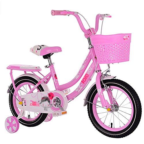 MAZHONGK inderfahrräder Kinder Fahrrad Rosa 1-Gang-Farbe koordiniert Speichenräder voll geschlossenen Kettenschutz und leicht zu erreichen Bremse in vielen Größen (Farbe : B, größe : 12 inch)
