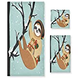 tropicallife Lerous Juego de toallas de perezoso trepar árbol de algodón suave 3 piezas toalla absorbente toalla de mano toalla de baño toalla cuadrada para cocina baño al aire libre