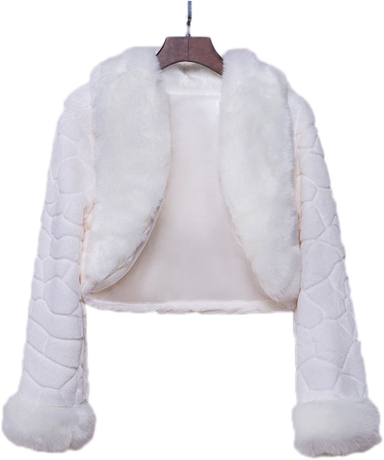 AK Beauty Winter Elegant Warm Faux Fur Bolero Wedding Wrap Shawl