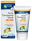 Earth's Care 5% Sulfur Acne Treatment Mask, No Parabens, Colors or Fragrances, Allergy Tested, Non-Comedogenic 2.5 OZ