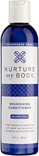 Nurture My Body All-Natural Everyday Conditioner, Fragrance Free, 8 fl oz. - Certified Organic Ingredients