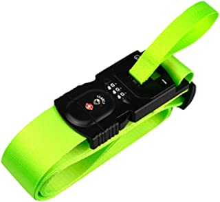 3-in-1 Design Multifunctional Luggage Strap with Electronic Scale and TSA-accepted 3 Digital Lock Combination, Adjustable Baggage Belts Suitcase Belts Bag Straps Travel Accessories non-slip (green)