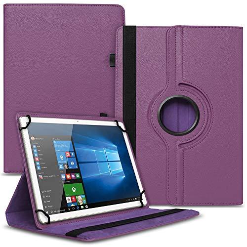 Tablet Hülle kompatibel für Xido Z120 Z110 X111 X110 Tasche Schutzhülle Hülle Cover aus Kunstleder Standfunktion 360° Drehbar, Farben:Lila