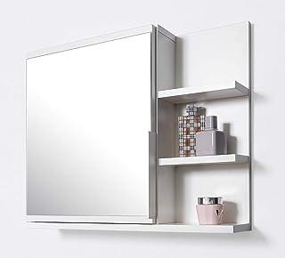 Colore Bianco Armadietto da Bagno con Specchio Stella Trading 172432
