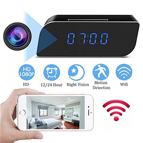 YEXIN Cámara espía, 1080P HD WiFi Cámara Oculta Mini cámara espía, Pequeñas...