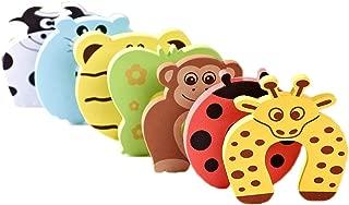 Bluestar 7Pcs Cartoon Animal Foam Door Stopper Cushion, Decorative Holder Lock Safety Guard Finger Protection for Children Kids Baby