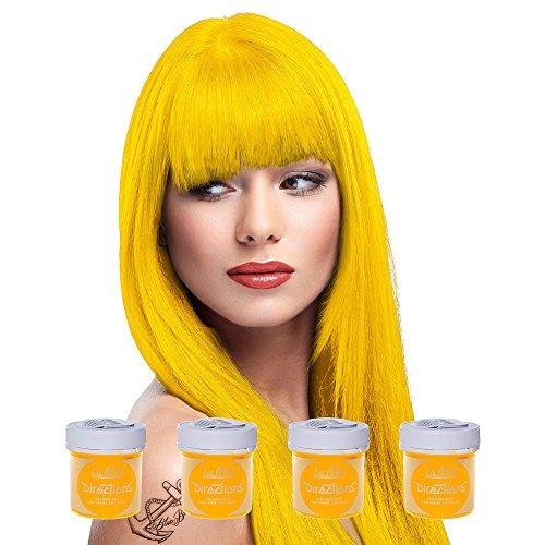 4 x La Riche Directions Semi-Permanent Hair Colour Dye Box Of Four-Bright Daffodil by La Riche