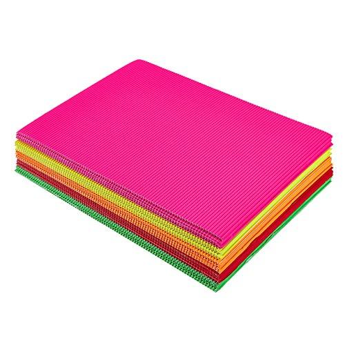 Juvale - Hojas de papel corrugado para manualidades (8,25 x 11,75 pulgadas, 5 colores, 30 unidades)