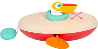 Small Foot 11654 Pelikan av trä, vindjande leksak för vattnet, för barn över 24 månader