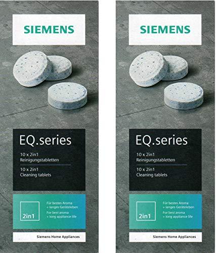 Siemens EQ.series TZ80001A Lot de 2 tablettes de nettoyage 22 g