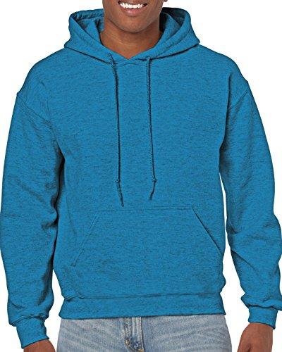 Gildan Men's Heavy Blend Fleece Hooded Sweatshirt G18500, Antique Sapphire, Small 10 Oz Pullover Hooded Sweatshirt