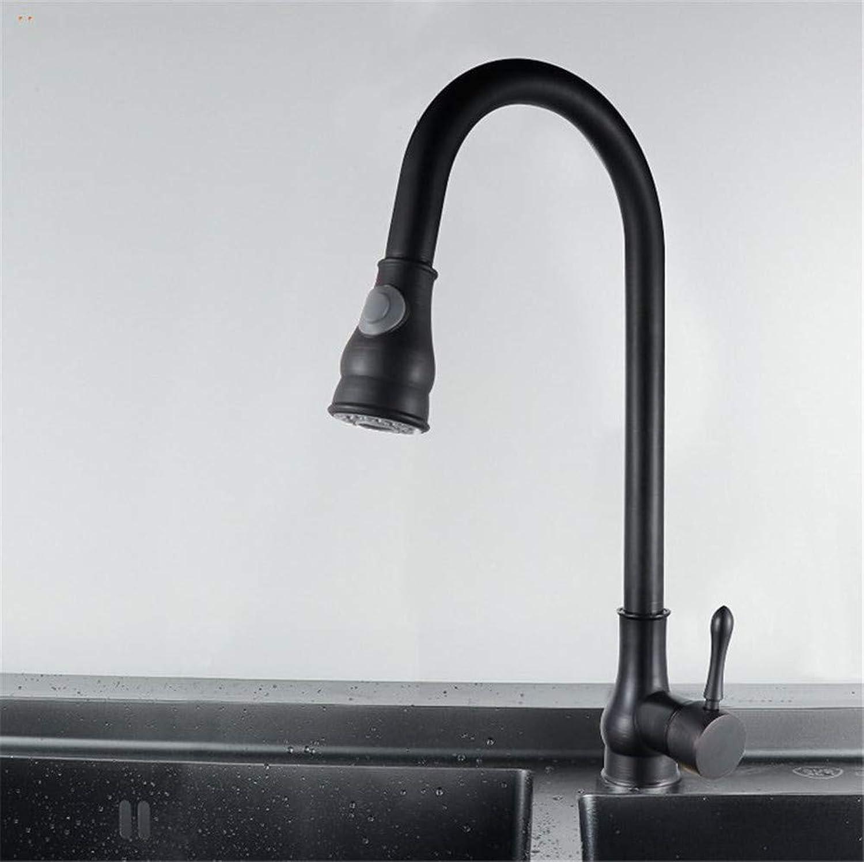 JONTON Faucet faucet faucet black bronze pull type drawing sink kitchen washing dishes washing dishes washing dishes kitchen washing dishes washing dishes washing dishes copper black hot and cold