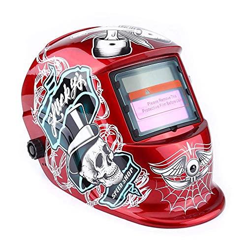 Máscara roja, Casco de Soldadura DIN 4 Material PP para construcción Naval para Acero para Arquitectura para petróleo para fabricación de calderas