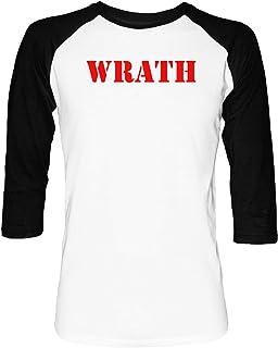c5333b389a171d Erido Wrath Uomo Donna Unisex Maglietta da Baseball Bianca Nera 2/3 Maniche  Women's Men's