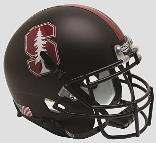 NCAA Stanford Cardinal Replica XP Football Helmet, Black Tree Alt. 3, One Size
