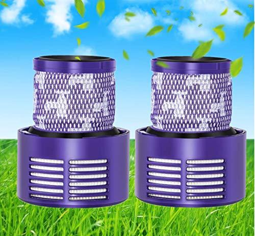Sweet D 2 Filtros Hepa de Repuestos Compatibles con Aspirador Dyson V10, Lavable
